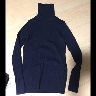 ムジルシリョウヒン(MUJI (無印良品))のケーブル  タートルネックセーター(ニット/セーター)