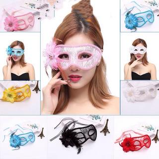 ❤️新品❤️ハロウィンコスプレ総レースフラワーアイマスク可愛いセクシー仮面変装♪(小道具)