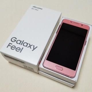 サムスン(SAMSUNG)の新品 SIMフリー docomo SC-04J Galaxy Feel ピンク(スマートフォン本体)