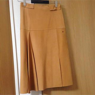 ロエベ(LOEWE)のロエベレザースカート(ひざ丈スカート)