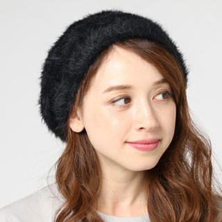 アースミュージックアンドエコロジー(earth music & ecology)のearth ベレー帽 ブラック 新品(ハンチング/ベレー帽)