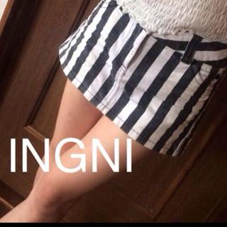 イング(INGNI)のイング ストライプ ミニスカート(ミニスカート)