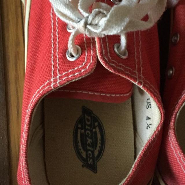 Dickies(ディッキーズ)のDickies スニーカー 赤☆US4 1/2 日本サイズ23センチ レディースの靴/シューズ(スニーカー)の商品写真
