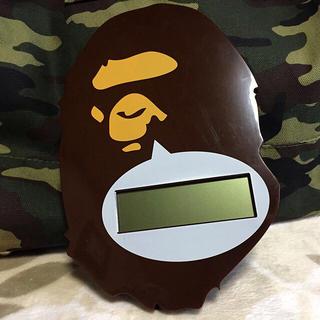 アベイシングエイプ(A BATHING APE)の値下げ‼️BAPE デジタルウォールロック(掛時計/柱時計)