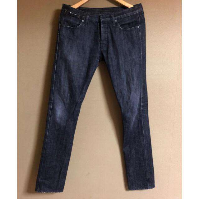 ブラック リング デニム ジーンズ スキニー ジーパン メンズのパンツ(デニム/ジーンズ)の商品写真