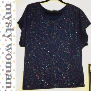 ミスティウーマン(mysty woman)のネイビーカラートップス(Tシャツ(半袖/袖なし))