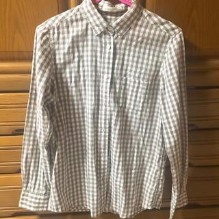 ローリーズファーム(LOWRYS FARM)のブラウンチェックシャツ(シャツ/ブラウス(長袖/七分))