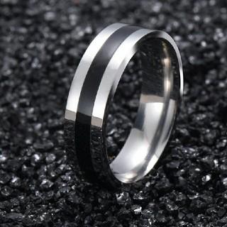 ブラックライン ステンレス リング(リング(指輪))