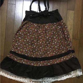 エスタコット(ESTACOT)の美品 ESTACOT 花柄ワンピース 兼 ロングスカート(ロングスカート)