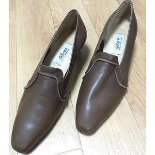 デボラシンニバルディ(debora SINIBALDI)のdebora 革靴 パンプス ローファー 24cm 茶系(ハイヒール/パンプス)