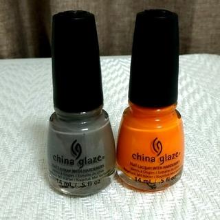 チャイナグレーズ(China Glaze)のChina Glaze マニキュア2本セット グレー オレンジ(マニキュア)