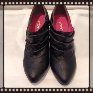 コーンヒール#ブーティー#ブラック(ブーツ)