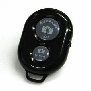 Bluetooth スマートフォン用 カメラリモコン カメラシャッター ブラック(その他)