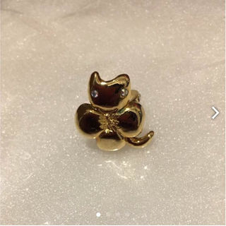 ツモリチサト(TSUMORI CHISATO)のツモリチサト猫とクローバーのリングフリー美品石取れなし(リング(指輪))