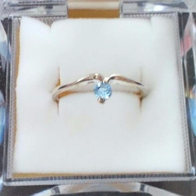 14号 ライトサファイアカラー ラインストーンシルバーカラーリング(指輪) レディースのアクセサリー(リング(指輪))の商品写真