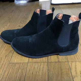 ジーユー(GU)のGU ジーユー サイドゴアブーツ  ブラック 27.0㎝(ブーツ)