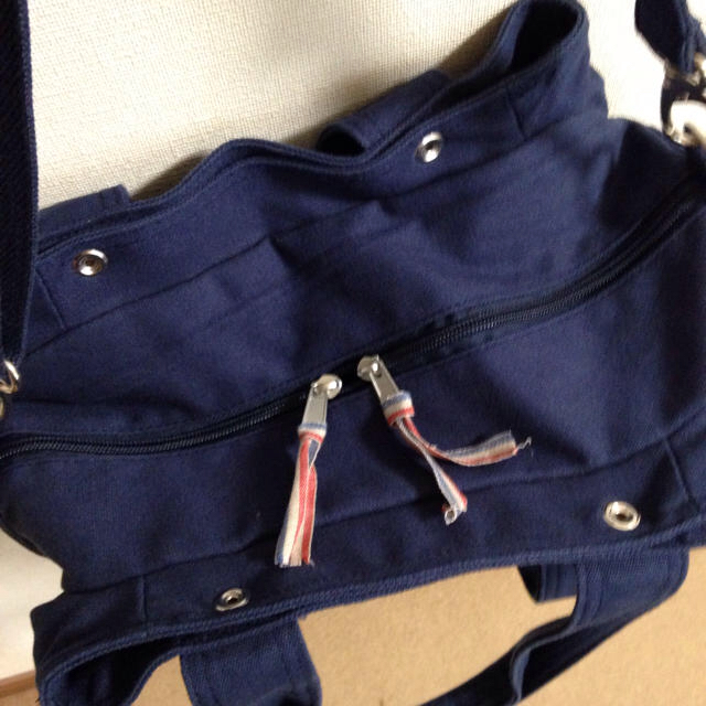 しまむら(シマムラ)のしまむら 2wayバッグ トート ショルダー ネイビー キャンバス地 レディースのバッグ(トートバッグ)の商品写真