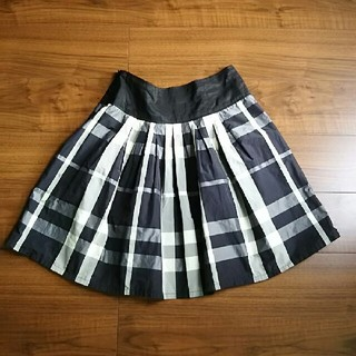 ザラ(ZARA)の【ZARA】タフタチェックスカート(ひざ丈スカート)