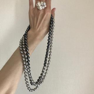 ハンジロー(HANJIRO)のaaa様専用  ほぼ未使用ネックレスAND指輪 ♡パール風♡可愛いです(リング(指輪))