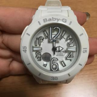 ベビージー(Baby-G)のBaby-G 白 ホワイト 時計(腕時計(デジタル))