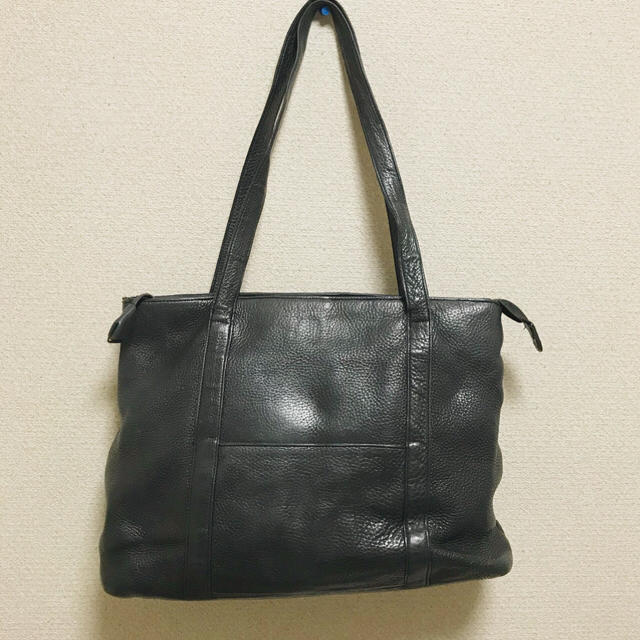 YOKO BRAND ヨーコブランド 黒 ブラック 革 鞄 レザー  バッグ  レディースのバッグ(ハンドバッグ)の商品写真