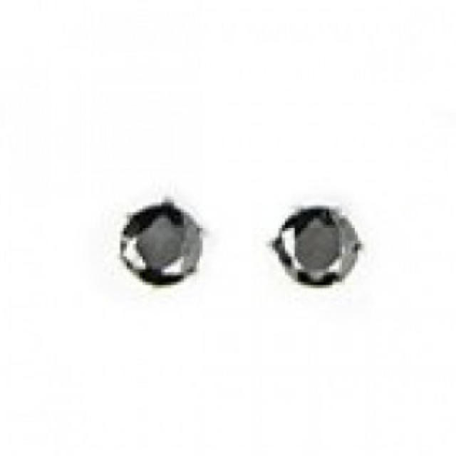 2個で1ペア 316Lステンレス ピアス CZダイヤモンドピアス ブラック レディースのアクセサリー(ピアス)の商品写真