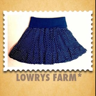 ローリーズファーム(LOWRYS FARM)のLOWRYS FARM*ドットチュール(ミニスカート)