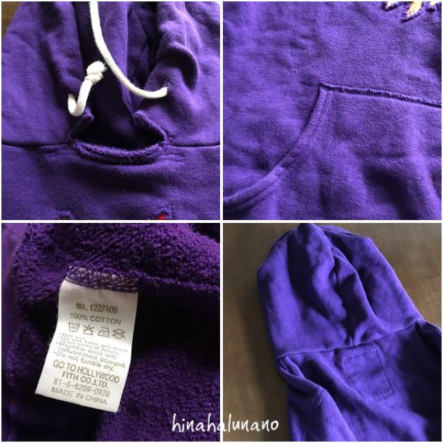 GO TO HOLLYWOOD(ゴートゥーハリウッド)の160  落ち着いたパープル キッズ/ベビー/マタニティのキッズ服女の子用(90cm~)(Tシャツ/カットソー)の商品写真