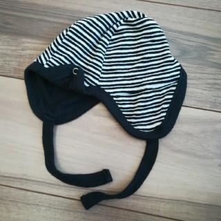アイシッケライ(ej sikke lej)のアイシッケライ☆白黒ボーダーベビー帽子(帽子)