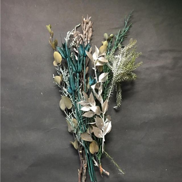 グリーンミックス プリザーブド ハンドメイドのフラワー/ガーデン(プリザーブドフラワー)の商品写真