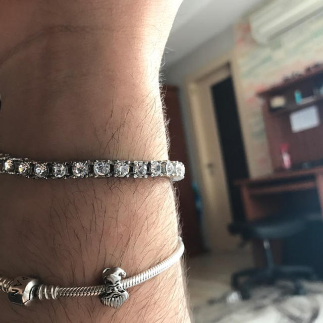 【大人気】 ダイヤモンド シルバー ブレスレット メンズのアクセサリー(ブレスレット)の商品写真