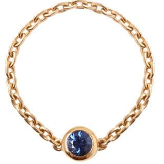orefice  ブルーサファイアチェーンリング(リング(指輪))