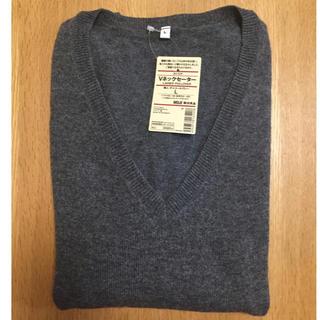 ムジルシリョウヒン(MUJI (無印良品))の【新品未使用】無印良品 Vネックセーター(ニット/セーター)