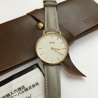 ダニエルウェリントン(Daniel Wellington)の【n様専用】CLUSE ラ・ボエーム ゴールド ホワイト/グレー CL18414(腕時計)