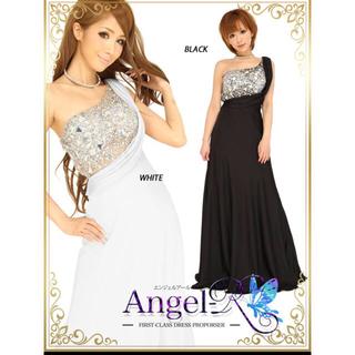 エンジェルアール(AngelR)の値下げ‼︎ANGEL R★ワンショルダードレス 白(ロングドレス)