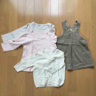 ムジルシリョウヒン(MUJI (無印良品))の【無印良品】90センチ女の子服4点セット(Tシャツ/カットソー)