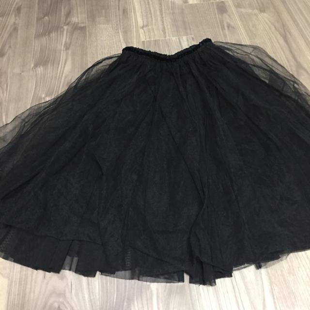 tocco(トッコ)のイジー様 TOCCO 黒 チュールスカート レディースのスカート(ひざ丈スカート)の商品写真