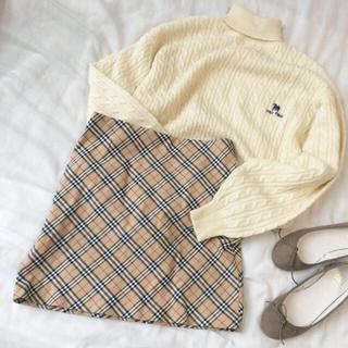 ロキエ(Lochie)の♡ burberry skirt ♡(ミニスカート)