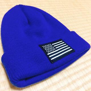 ウィゴー(WEGO)のNY ニット帽 ブルー(ニット帽/ビーニー)