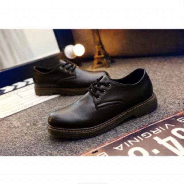 厚底 シンプル シック 3ホール メンズブーツ ローファー MD48ブラック44 メンズの靴/シューズ(スリッポン/モカシン)の商品写真
