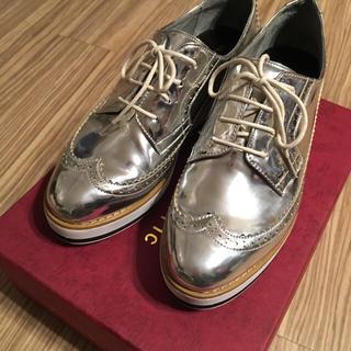 オリエンタルトラフィック(ORiental TRaffic)のプラットフォームシューズ♡ ウイングチップ ブルーチャー(ローファー/革靴)