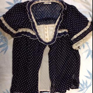 アクシーズファム(axes femme)の水玉透けチュニック(シャツ/ブラウス(半袖/袖なし))