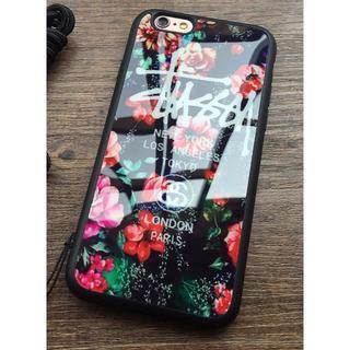 ステューシー(STUSSY)のiPhone7ケース ミラー花柄レッド(iPhoneケース)