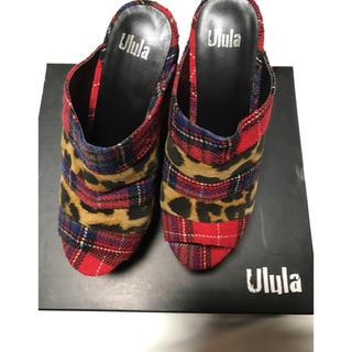 ウルラ(Ulula)の新品ululaボーダーサボサンダル マルチチェックレオパード個性的モード(サンダル)