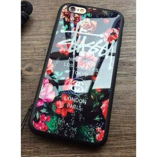 ステューシー(STUSSY)のiPhone6/6sケース ミラー花柄レッド(iPhoneケース)