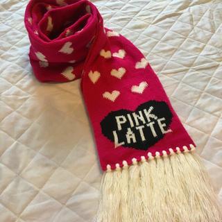 ピンクラテ(PINK-latte)のハートマフラー ピンクラテ (マフラー/ショール)