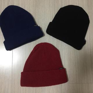 マウジー(moussy)のマウジーニット帽ブルーのみ(ニット帽/ビーニー)