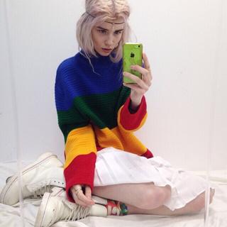ユニフ(UNIF)のUnif crayola sweater ニット ユニフ 人気商品(ニット/セーター)