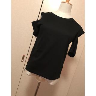 アウラアイラ(AULA AILA)のショルダーカットTシャツ(Tシャツ(半袖/袖なし))