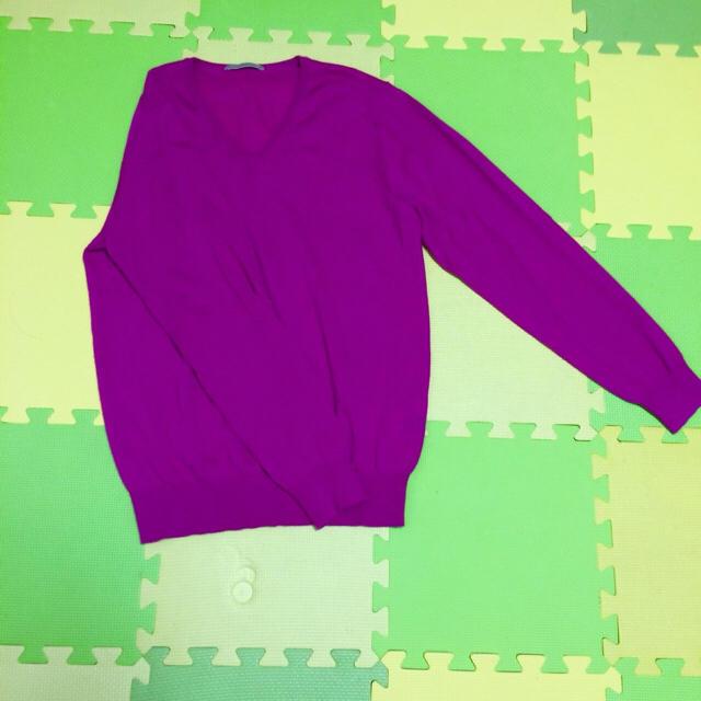 UNIQLO(ユニクロ)のユニクロ ピンクニット M メンズのトップス(ニット/セーター)の商品写真